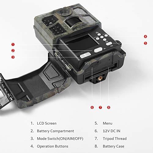 Victure Wildkamera Fotofalle 20MP 1080P 40 Low-Glow Infrarot-LEDs mit bewegungsmelder Nachtsicht IP66 Wasserdicht Jagdkamera 0,2s Auslösezeit für Jagd, Überwachung von Eigentum und Tieren - 8